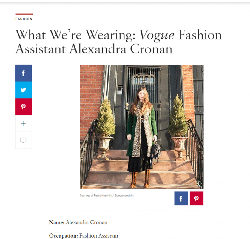 VOGUE.COM ALEX CRONAN